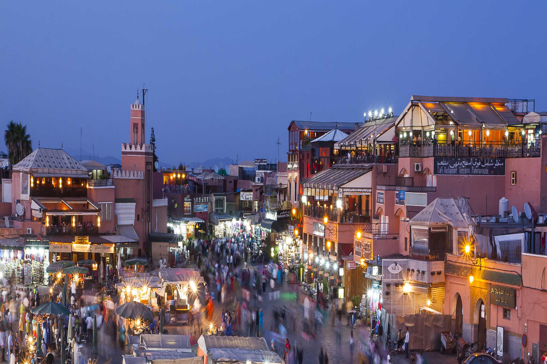 The Jemaa el Fna square, Marrakech starts here